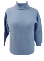 Westaway Ladies Lambswool  3ply Roll Collar Pullover