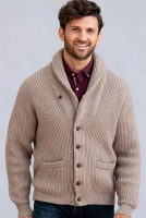 William Lockie - Windsor 4 ply cashmere shawl collar cardigan