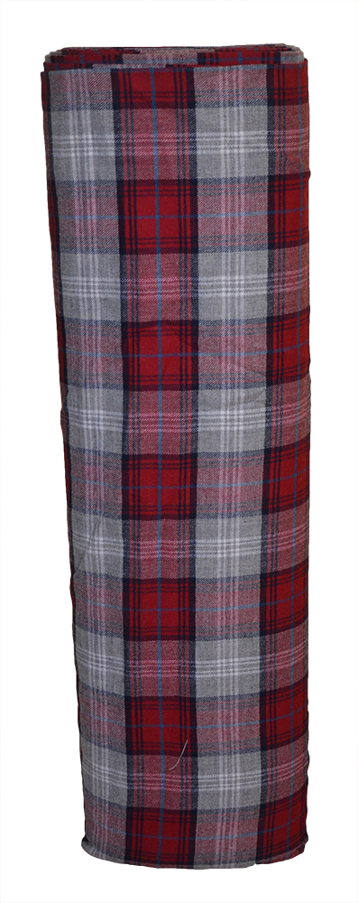 Grey and Claret tartan cloth