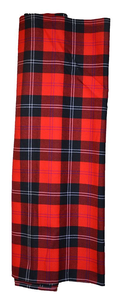 Red Ramsay tartan cloth sample