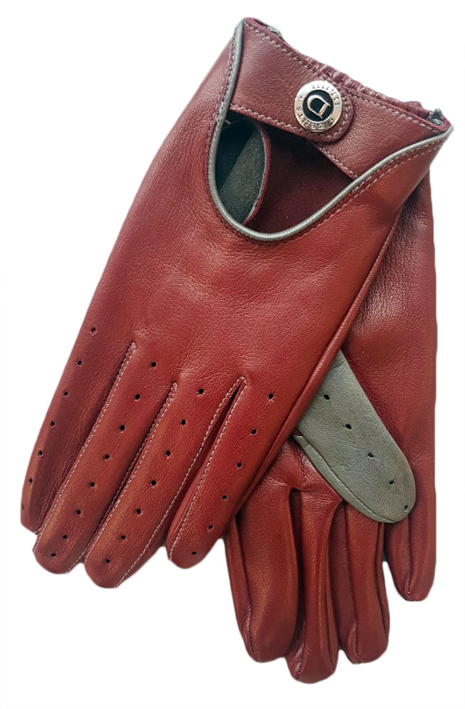 Dents Deene Men's Hairsheep Leather Driving Gloves with contrasting thumb