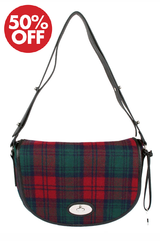 Dents - Elise Flap Over Tartan Bag Lindsay
