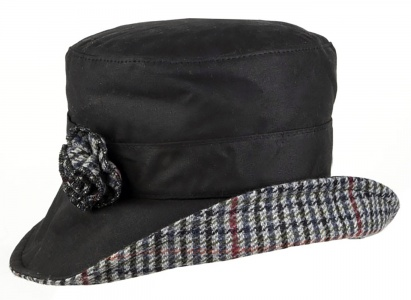 Dents - Wax Cotton Bucket Hat with Tweed Detail 6877ca8713a