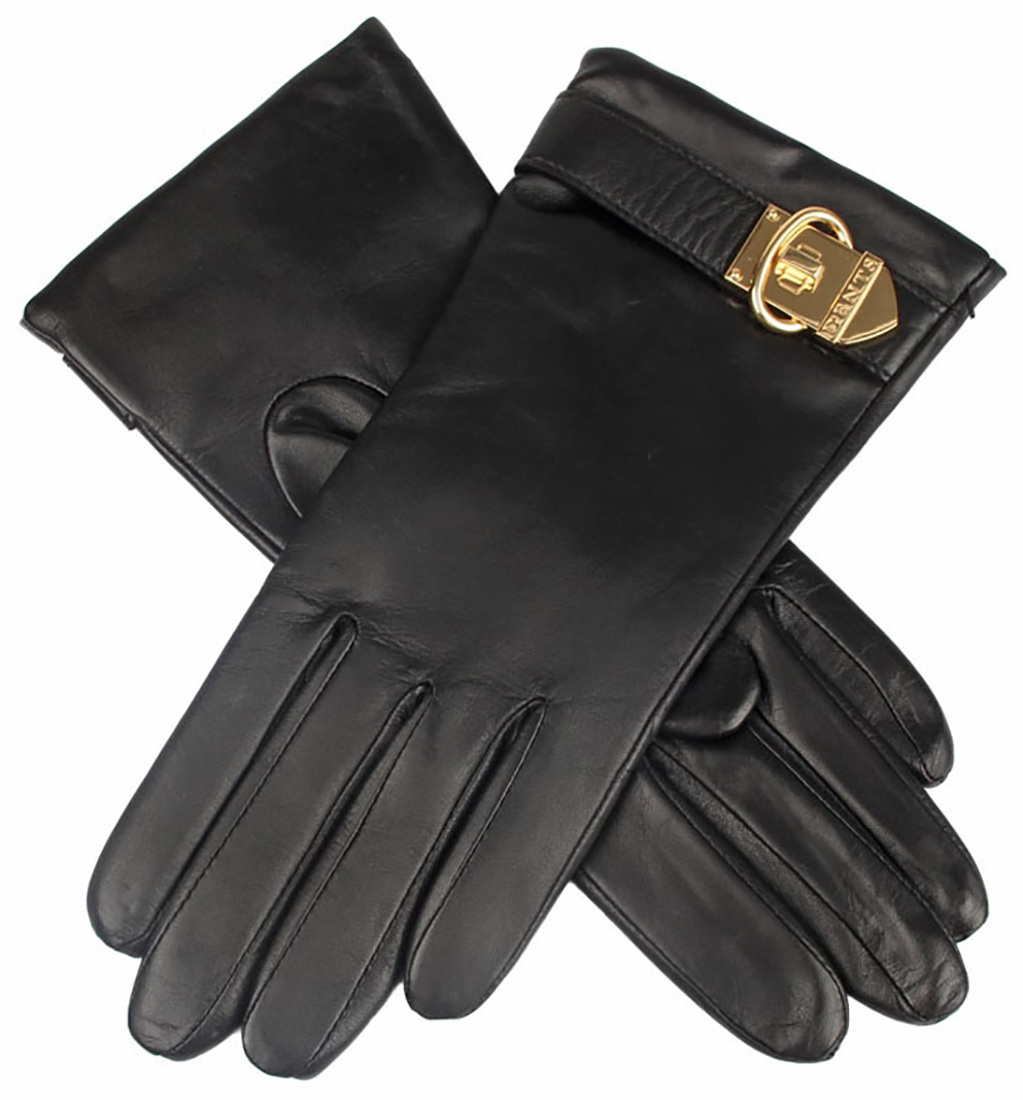 Dents - Ladies Cashmere Lined Hairsheep Leather Gloves with Buckle Detail
