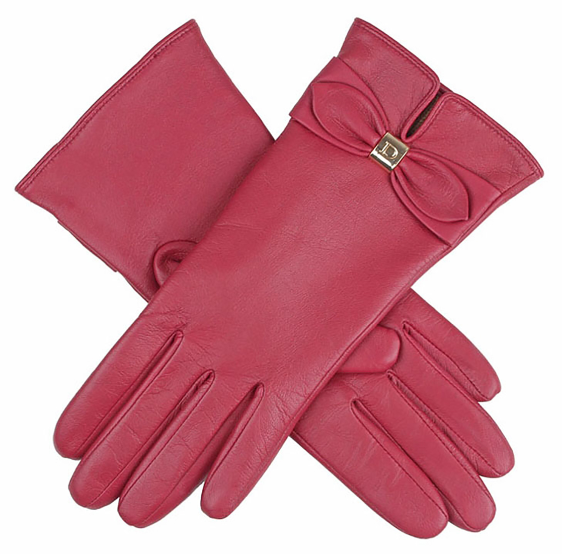 Dents - Ladies Hairsheep Leather Gloves with Bow Detail