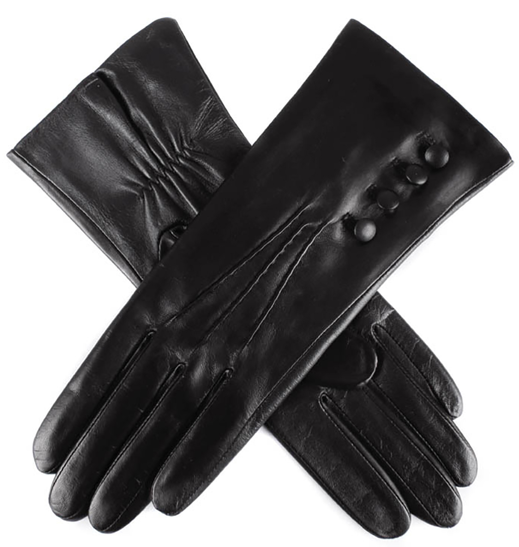 Dents - Ladies Silk Lined Hairsheep Leather Touchscreen Technology Gloves