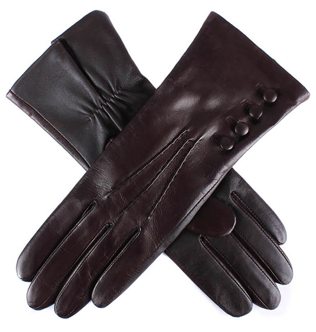 Dents - Natalie Ladies Silk Lined Hairsheep Leather Touchscreen Technology Gloves