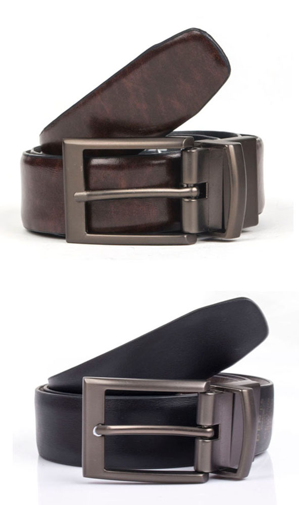 Dents Reversible Coated Leather Belt