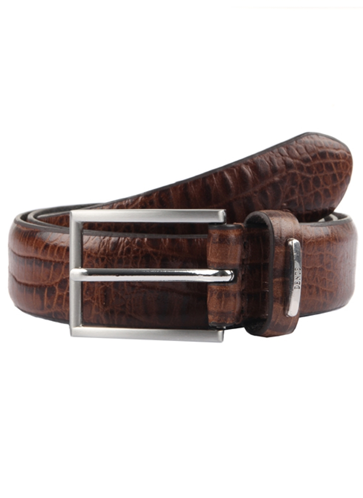 Dents - Crocodile print leather belt