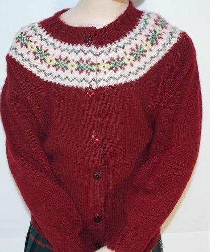 07a53a602 Childrens shetland fair isle yoke cardigan