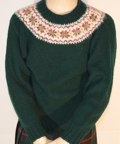 Westaway - Childrens Fair Isle yoke pullover