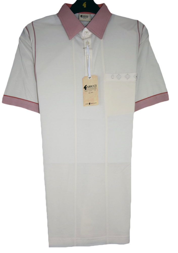 Gabicci - Plain polo shirt with contrast collar and sleeve ends