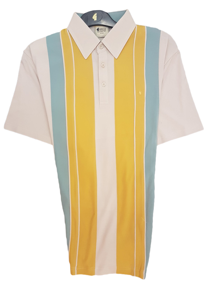Gabicci - Polo shirt with with contrast vertical blocks