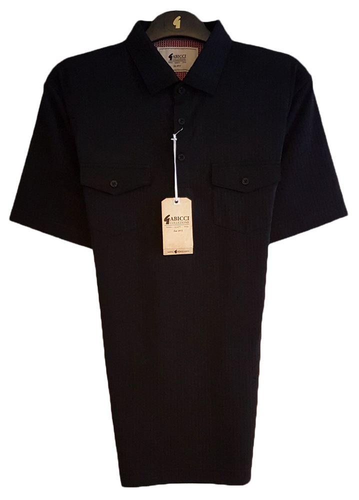 Gabicci - Polo shirt with stitch ribbing and double breast pockets
