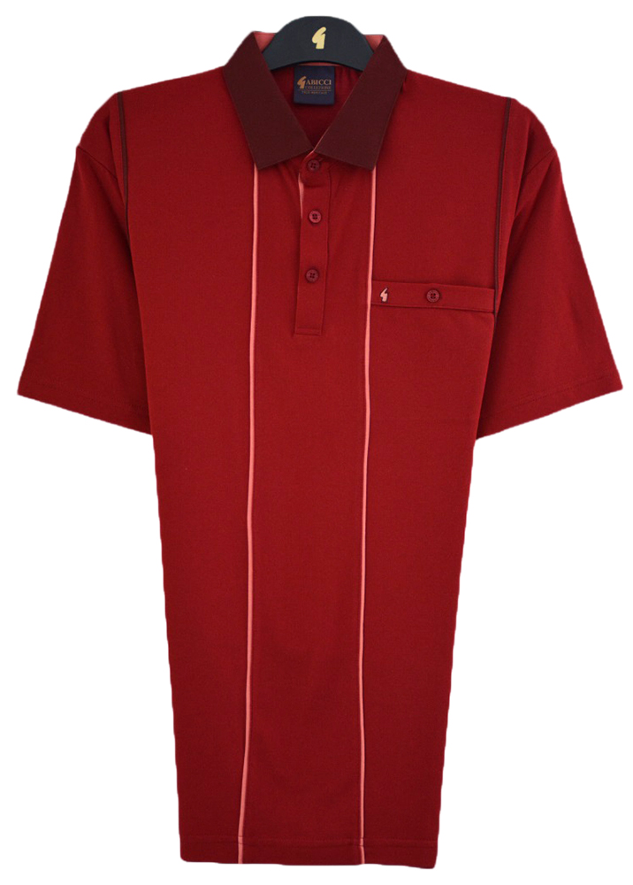 Gabicci - Plain polo shirt with contrast collar and piping detail