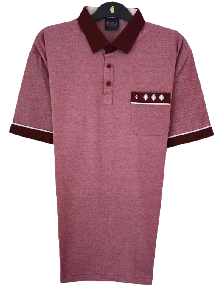 Gabicci - Plain polo shirt with diamond pocket top detail