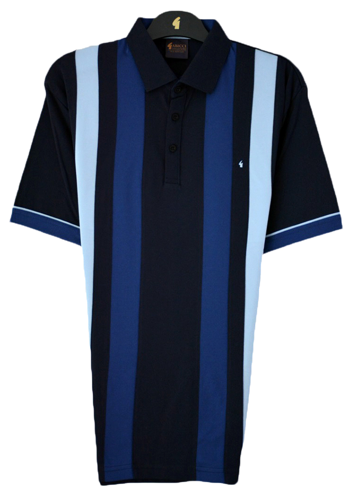 Gabicci - Plain polo shirt with block stripes