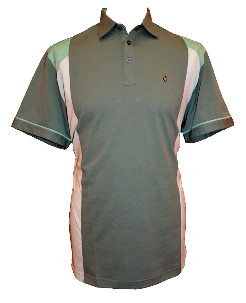 Gabicci - Plain polo shirt with side stripe