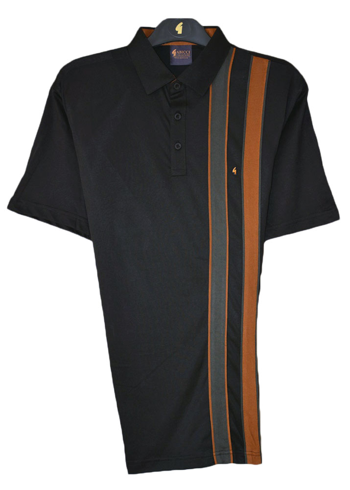 Gabicci - Plain polo shirt with one sided twin stripes