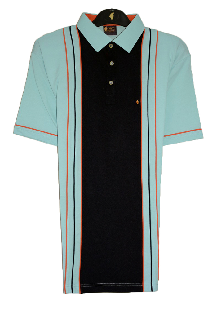Gabicci -Plain polo shirt with centre contrast block