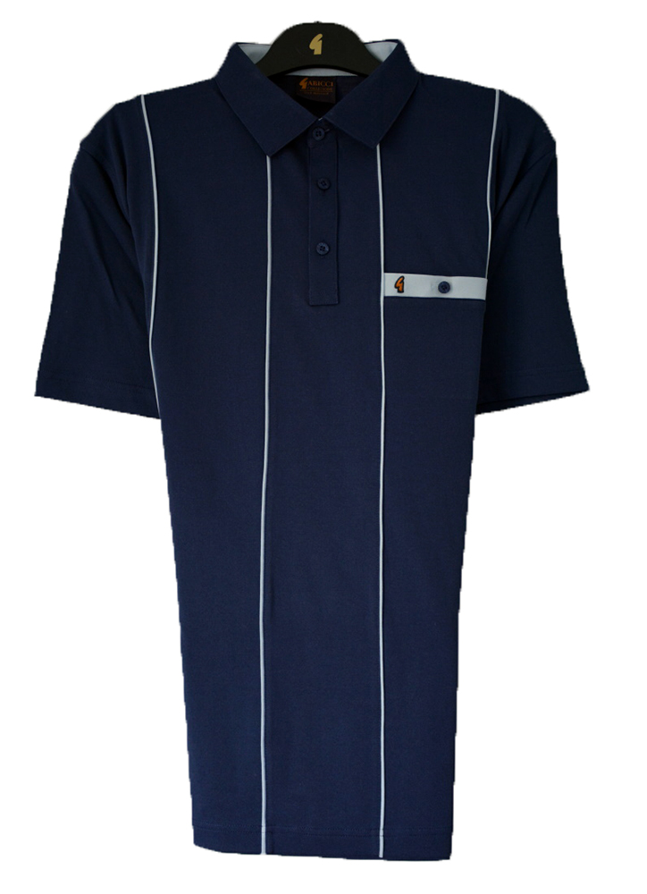 Gabicci - Plain polo shirt with vertical piping
