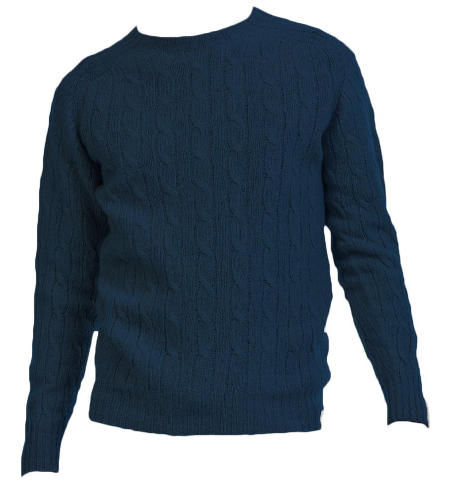 Harley Mens Shetland Cable Crew Neck Pullover
