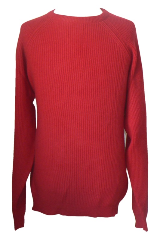 Johnstons - Mens cashmere ribbed crew neck pullover