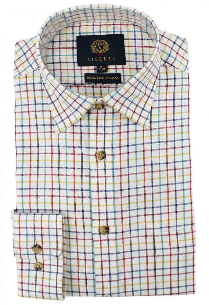 Viyella - Classic medium tattersall check shirt