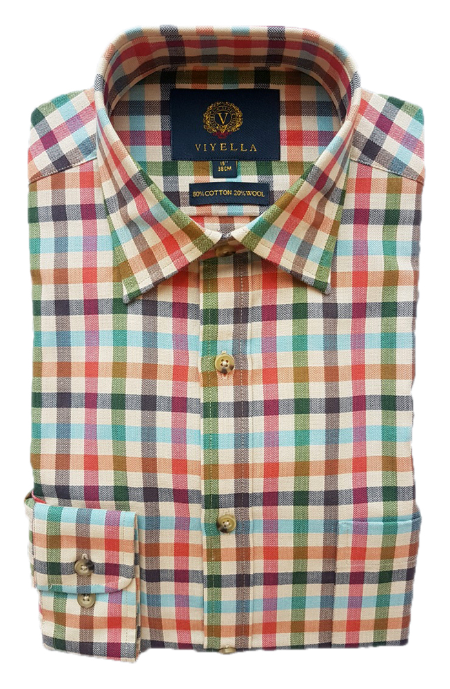 Viyella Herringbone Club Check Shirt
