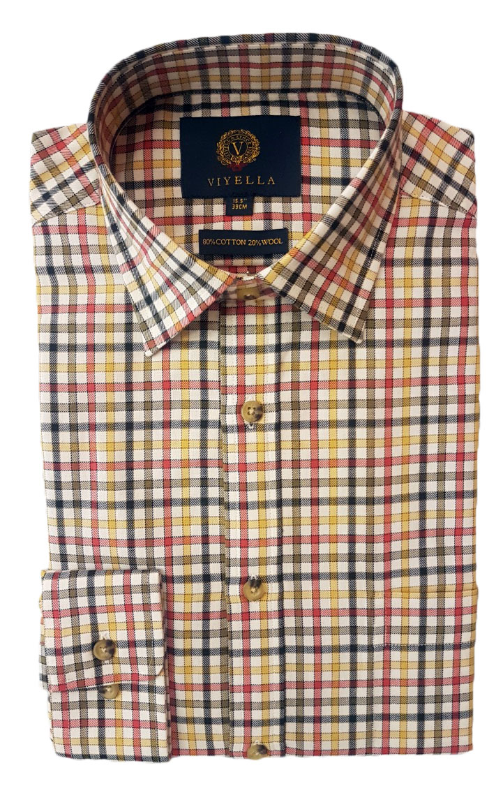 Viyella Square Check Shirt
