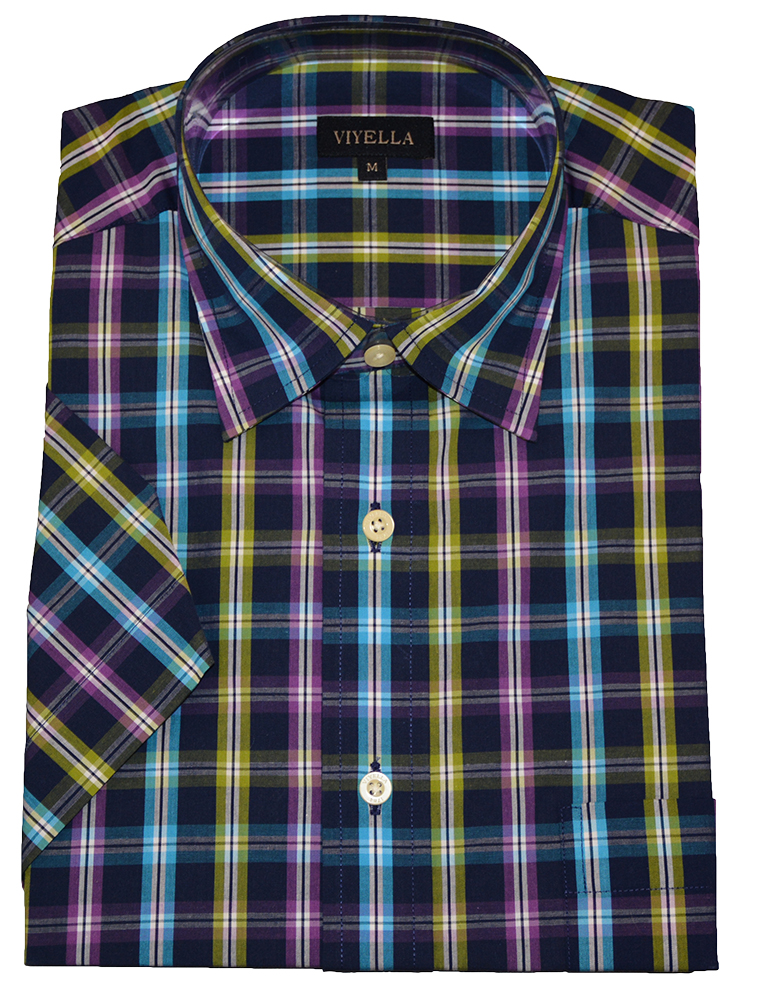 Viyella Cotton Short Sleeve Check Shirt