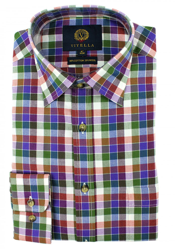 Viyella - Muted check shirt