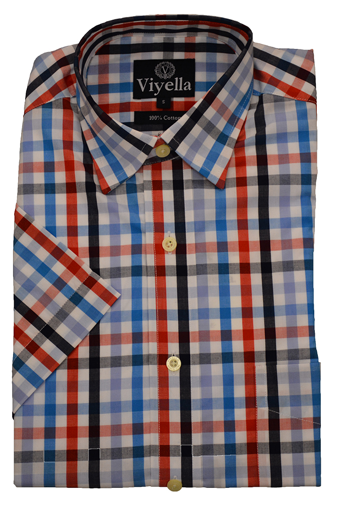 Viyella Cotton Short Sleeve Bold Check Shirt