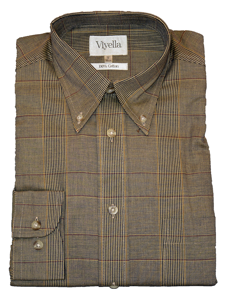 Viyella Cotton Shirt with a prince of wales style check