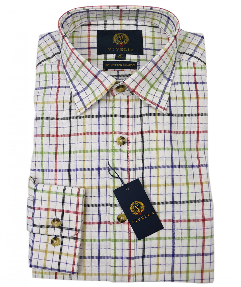 Viyella Multicoloured Windowpane Check Shirt