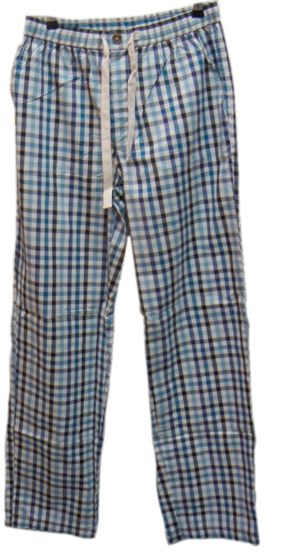 Viyella - Airforce blue check pyjamas