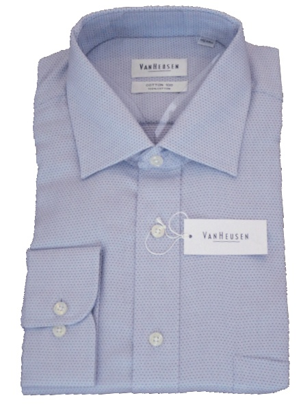 Van Heusen - Blue cotton 100 shirt with red flecks