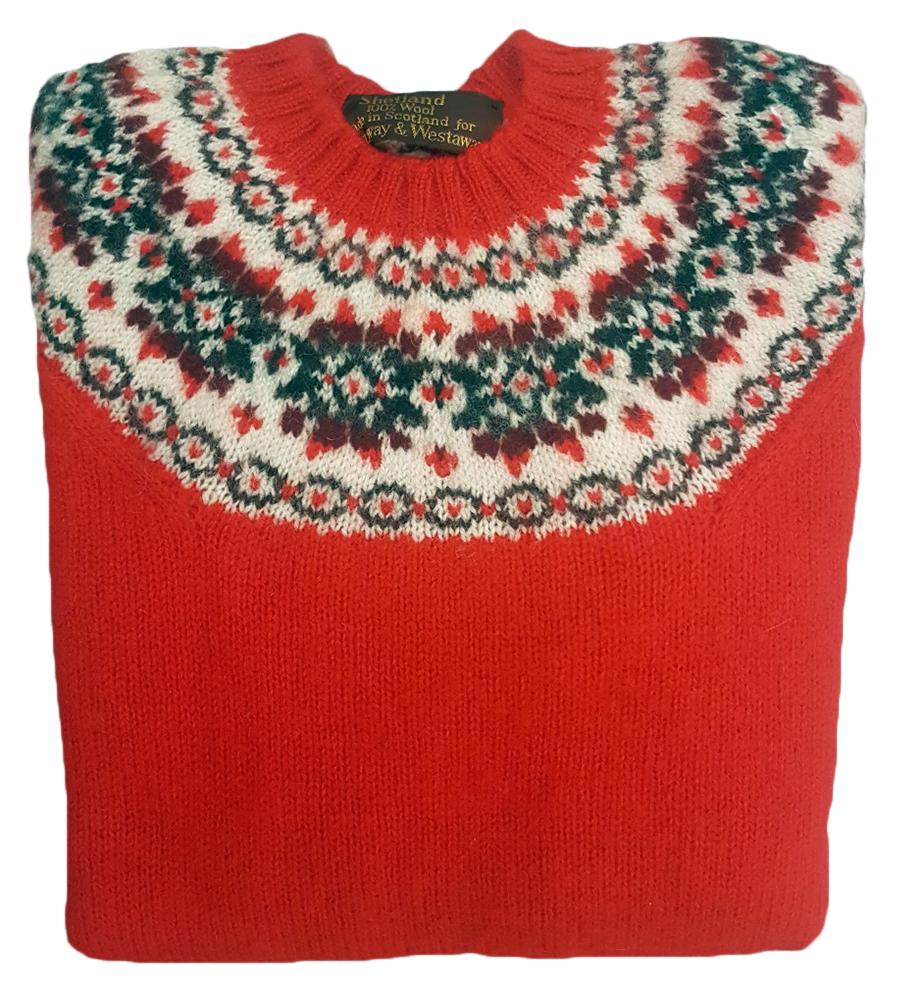 b3d55261aa Westaway ladies shetland fair isle yoke pullover jpg 922x1000 Shetland fair  isle yoke sweater