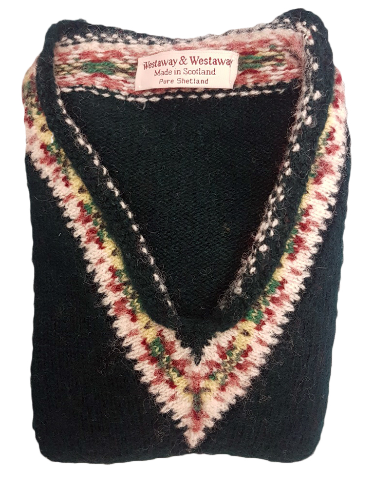 Westaway - Childrens Fair Isle yoke v neck pullover