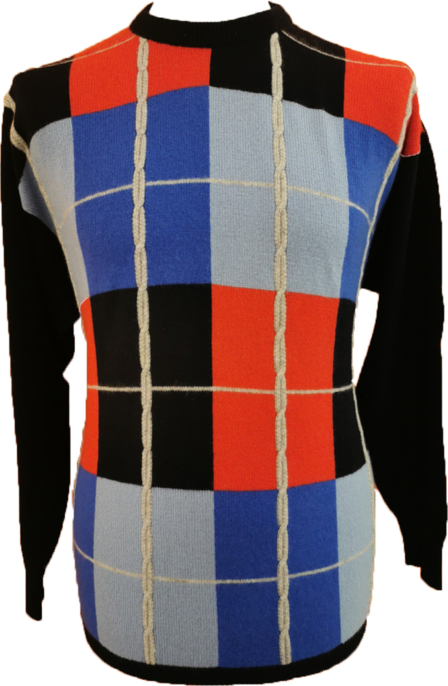 Westaway - 2ply cashmere crew neck box intarsia pullover