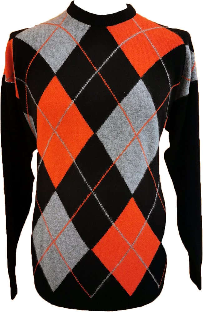 Westaway - 2ply cashmere crew neck argyle intarsia pullover