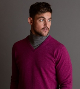 William Lockie mens cashmere knitwear