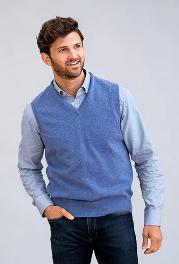 William Lockie - Oxton 1ply cashmere slipover