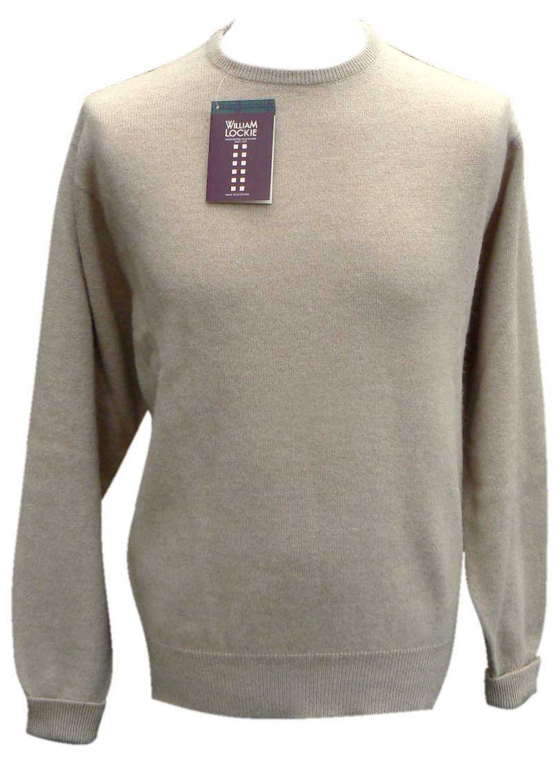 William Lockie Mens Camelhair crew neck pullover