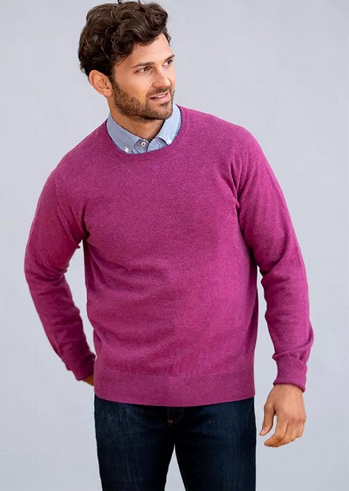 William Lockie - Oxton 1ply cashmere crew neck