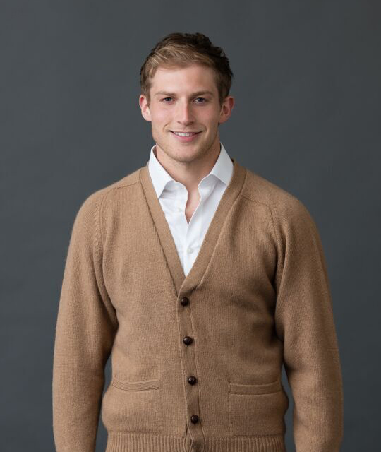 William Lockie - Datchet 4ply Camelhair Cardigan