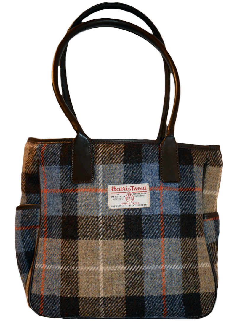 James Sienna Tote Harris Tweed Bag Camel Check