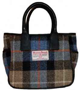 James Sienna Handheld Harris Tweed Bag Camel Check