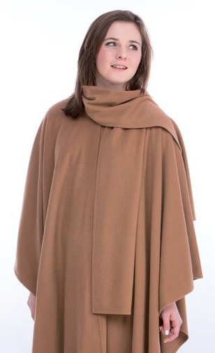 James Wool Cashmere Cape Camel